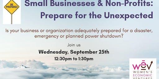 Small Businesses & Non-Profits: Prepare for the Unexpected