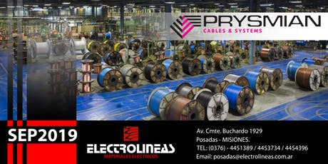 Charla Técnica Prysmian - Electro Lineas - POSADAS SEP2019 entradas