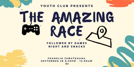 Youth Club Amazing Race Event tickets
