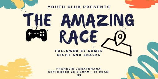 Youth Club Amazing Race Event