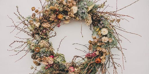 Preserved Floral Fall Wreath