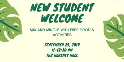 2019 EEB New Student Welcome Event