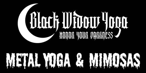 METAL YOGA & MIMOSAS with Black Widow Yoga @ 9th Realm Gallery