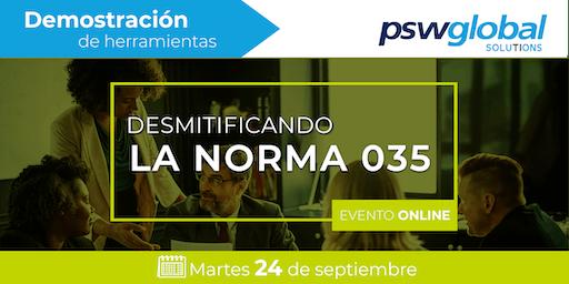 24 Septiembre - Desmitificando la norma 035 / V