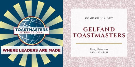 Gelfand Toastmasters Club tickets