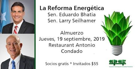 Conoce la Propuesta de Reforma Energética para Puerto Rico tickets