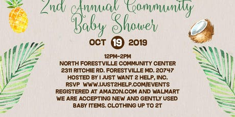 2nd Annual Community Baby Shower tickets