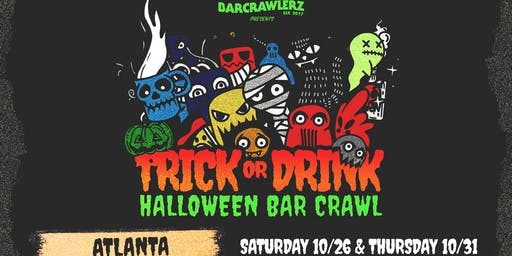 Trick or Drink: Atlanta Halloween Bar Crawl (2 Days)