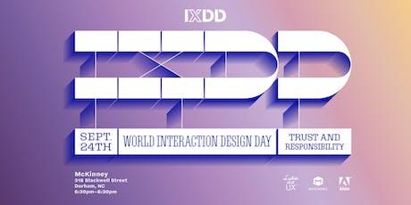 World Interaction Design Day 2019 tickets