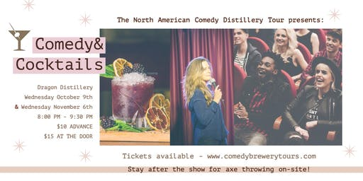 Comedy and Cocktails at Dragon Distillery