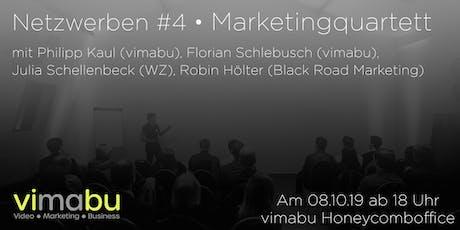 vimabu Netzwerben #4 Marketingquartett Tickets