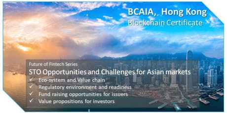 STO Opportunities and Challenges for Asian Markets tickets