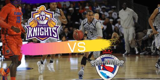 Professional Basketball game  San Jose Knights Vs California Sea-Kings ABA