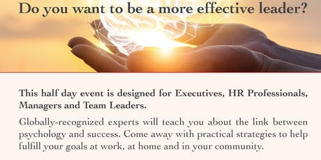 Be a More Effective Leader:Emotional Intelligence, Manage Conflict & Stress tickets