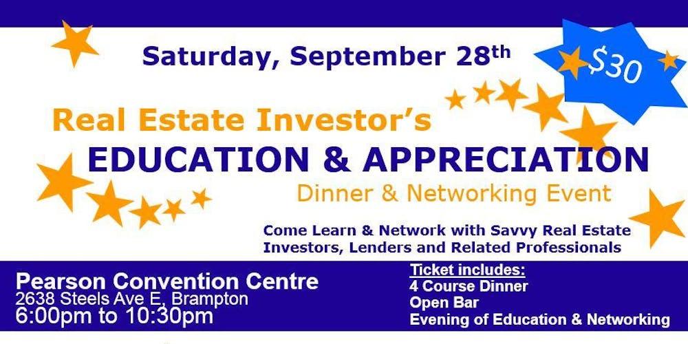 Real Estate Investors Education & Appreciation Dinner and