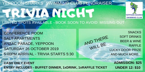 Trivia Night Fundraiser - Hosted By Yeppoon Sharks Swim Club