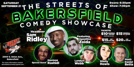 Streets of Bakersfield Comedy Showcase 9/21/19