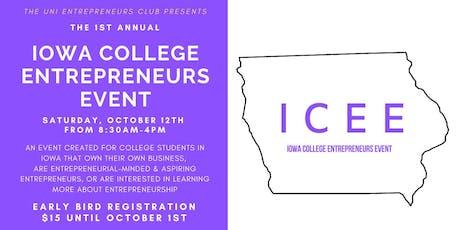 Iowa College Entrepreneurs Event 2019 tickets