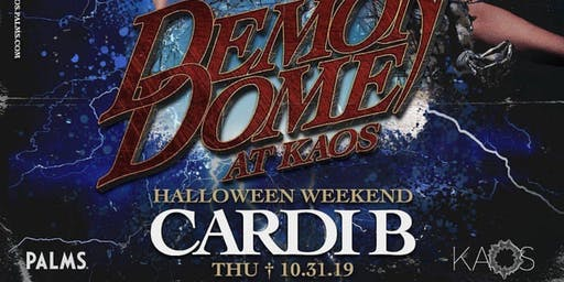 CARDI B @ KAOS NIGHTCLUB - LAS VEGAS HALLOWEEN PARTY OCTOBER 31ST