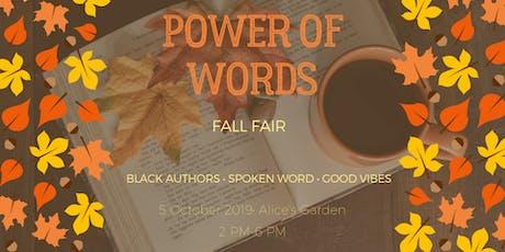 Power of Words Fall Fair tickets