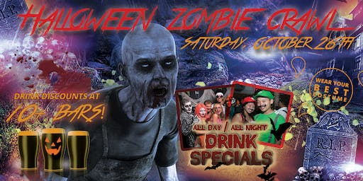 LONG BEACH ZOMBIE CRAWL - Halloween Pub Crawl Oct 26th