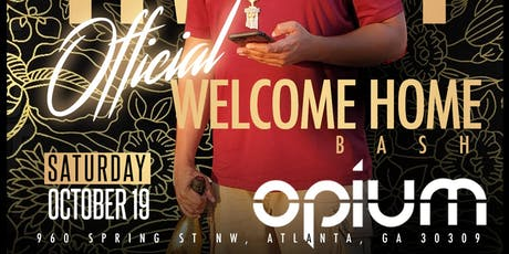 Trizzy Welcome Home Party Saturday October 19th @ Opium  tickets