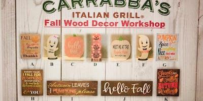 Carrabba's Smithtown Fall Wood Decor Workshop