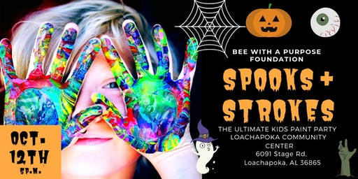 2ND ANNUAL SPOOKS & STROKES GLOW HALLOWEEN PAINT PARTY