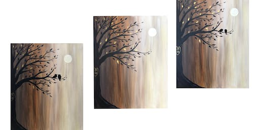 Get out & Create!   'Golden Evening' acrylic canvas painting