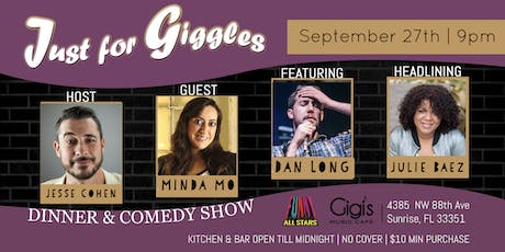 Free tickets! Just for Giggles Dinner & Comedy Show Ft Lauderdale tickets