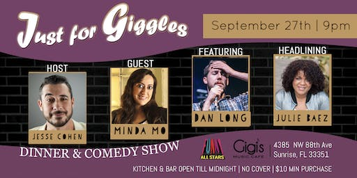 Free tickets! Just for Giggles Dinner & Comedy Show Ft Lauderdale