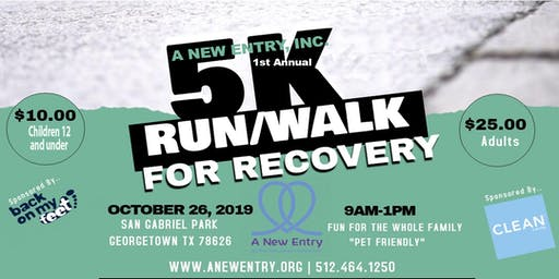 A New Entry, INC. 5K Run/Walk for Recovery