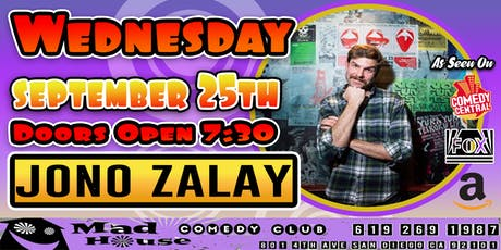 Jono Zalay as seen Comedy Central, Fox Amazon and more! tickets