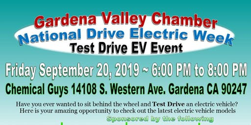 Gardena Chamber National Drive Electric Week - Test Drive Event