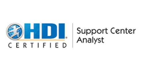 HDI Support Center Analyst 2 Days Virtual Live Training in Wellington tickets