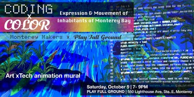 Coding x Color - Expression & Movement of Inhabitants of Monterey Bay