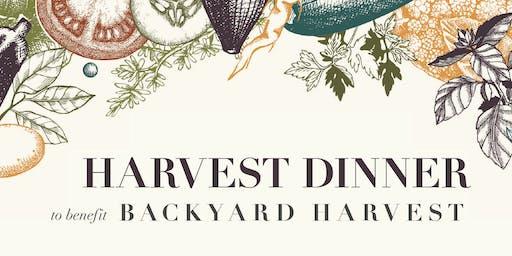 Backyard Harvest's Annual Harvest Dinner
