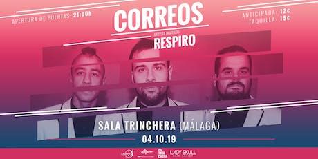 Concierto CORREOS + RESPIRO en Malaga tickets