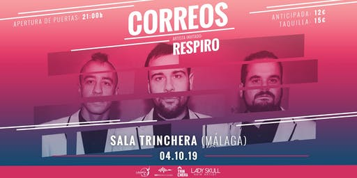 Concierto CORREOS + RESPIRO en Malaga