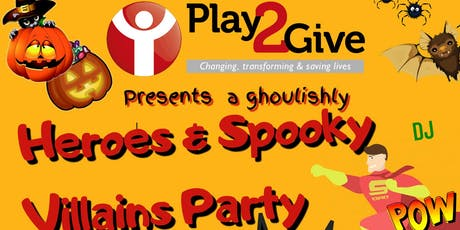 Play2Give's Heroes & Spooky Villains Party tickets