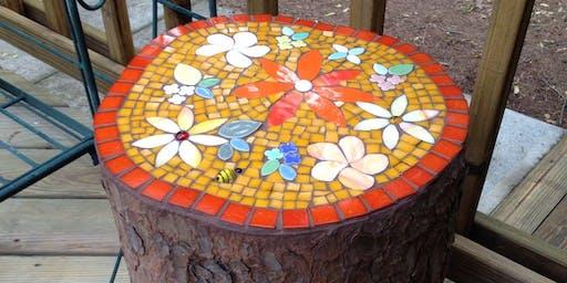 Beginners Mosaic - Jarrah Stool