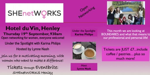 SHEnetWORKS Henley for Women who want to network and make things happen!