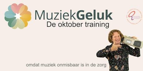 Oktober MuziekGeluk Training - V&V geaccrediteerd met 5 punten tickets