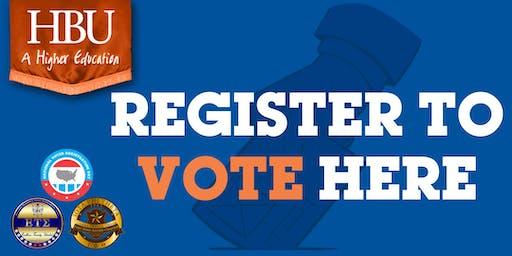 Houston Baptist University (HBU) Voter Registration Drive