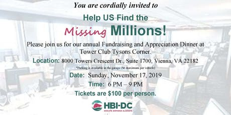 2019 HBI-DC Fundraising & Appreciation Dinner tickets