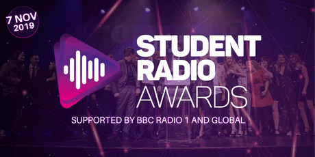 Student Radio Awards supported by BBC Radio 1 and Global tickets