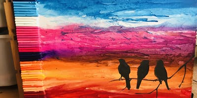 Adult Craft Night - Crayon Canvas Art Making