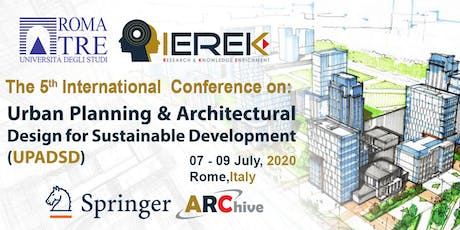Urban Planning & Architectural Design for Sustainable Development – 5th Edi biglietti
