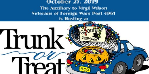 Trunk or Treat at the Veterans of Foreign Wars Post 4961