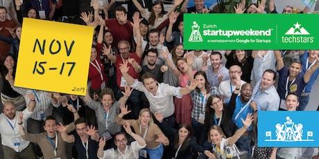 Techstars Startup Weekend | Zurich |15-17 November 2019 tickets